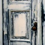 Geschuurde dubbele deur voorbehandeling