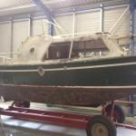 Oorspronkelijke staat boot / pleziervaartuig voor schilderwerken
